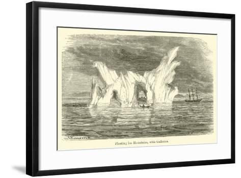 Floating Ice Mountains, with Galleries--Framed Art Print