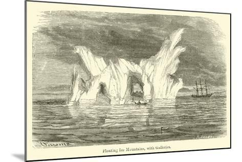 Floating Ice Mountains, with Galleries--Mounted Giclee Print