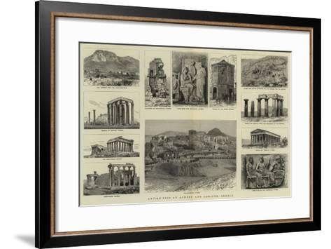 Antiquities at Athens and Corinth, Greece--Framed Art Print
