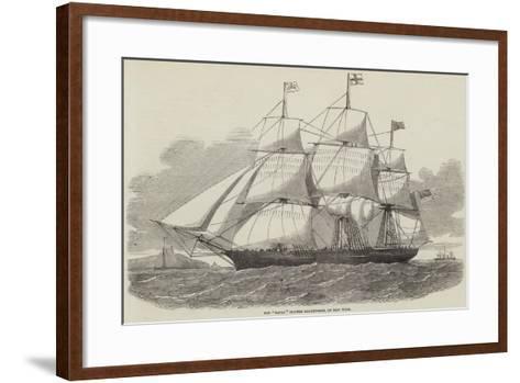 The Racer Clipper Packet-Ship, of New York--Framed Art Print