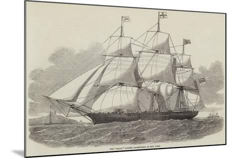 The Racer Clipper Packet-Ship, of New York--Mounted Giclee Print