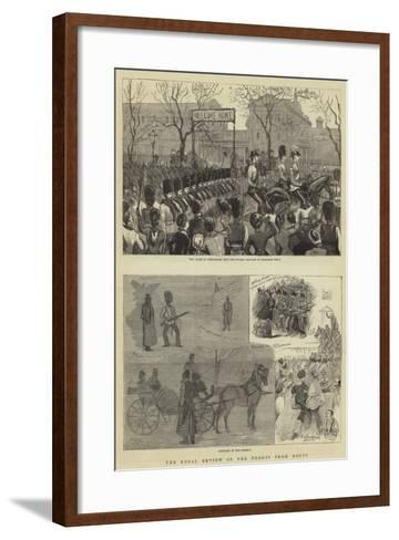 The Royal Review of the Troops from Egypt--Framed Art Print