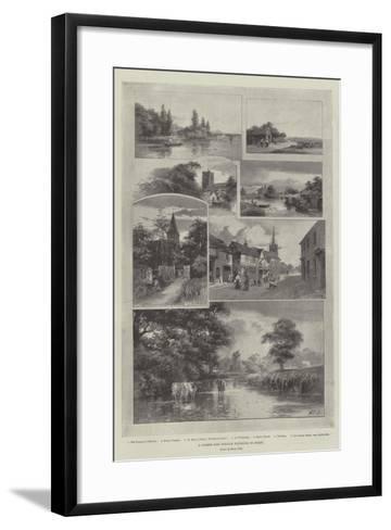 A Summer Ride Through Weybridge to Bisley--Framed Art Print