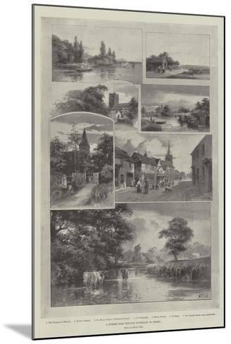 A Summer Ride Through Weybridge to Bisley--Mounted Giclee Print