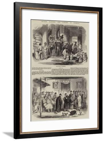 Chinese Manners and Customs in Formosa--Framed Art Print
