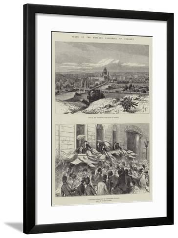 Death of the Emperor Frederick of Germany--Framed Art Print