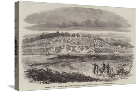 General View of an Encampment at Woolmer--Stretched Canvas Print