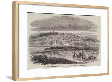 General View of an Encampment at Woolmer--Framed Art Print