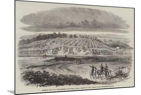General View of an Encampment at Woolmer--Mounted Giclee Print