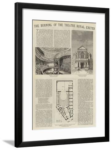 The Burning of the Theatre Royal, Exeter--Framed Art Print