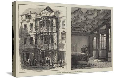 Sir Paul Pindar's House, Bishopsgate-Street--Stretched Canvas Print