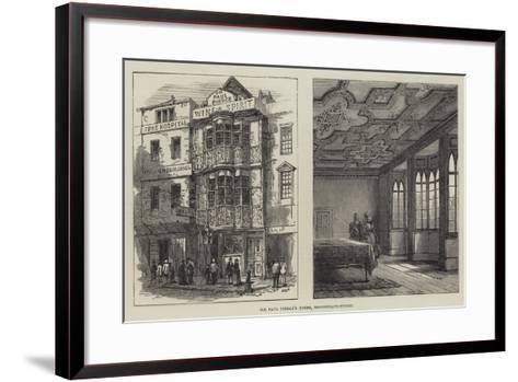 Sir Paul Pindar's House, Bishopsgate-Street--Framed Art Print