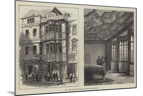 Sir Paul Pindar's House, Bishopsgate-Street--Mounted Giclee Print