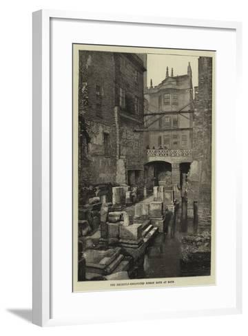 The Recently-Excavated Roman Bath at Bath--Framed Art Print