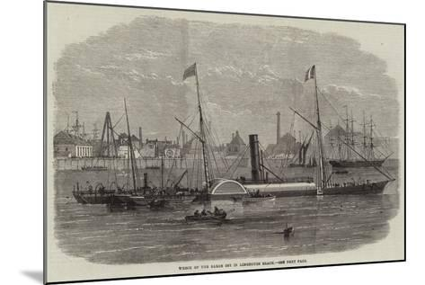 Wreck of the Baron Osy in Limehouse Beach--Mounted Giclee Print