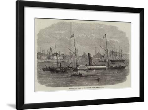 Wreck of the Baron Osy in Limehouse Beach--Framed Art Print