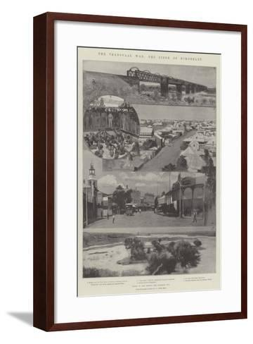 The Transvaal War, the Siege of Kimberley--Framed Art Print