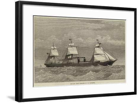 The New Inman Steamer City of Richmond--Framed Art Print
