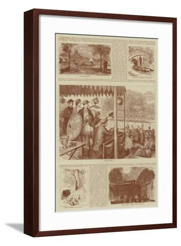 Leaves from an Artist's Note Book at Henley--Framed Art Print