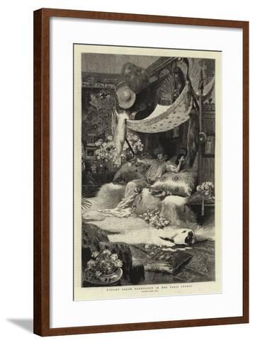 Madame Sarah Bernhardt in Her Paris Studio--Framed Art Print