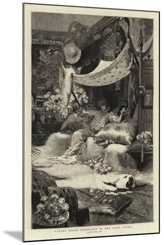Madame Sarah Bernhardt in Her Paris Studio--Mounted Giclee Print
