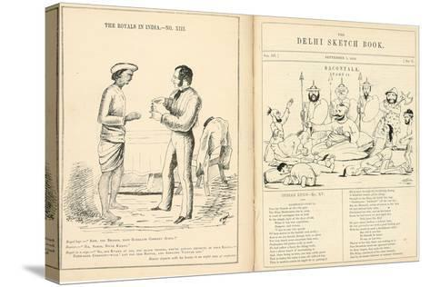 Pages from the Delhi Sketchbook, 1850-54--Stretched Canvas Print