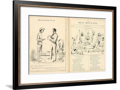 Pages from the Delhi Sketchbook, 1850-54--Framed Art Print