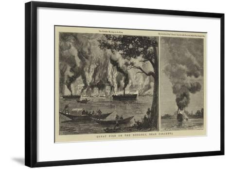 Great Fire on the Hooghly, Near Calcutta--Framed Art Print