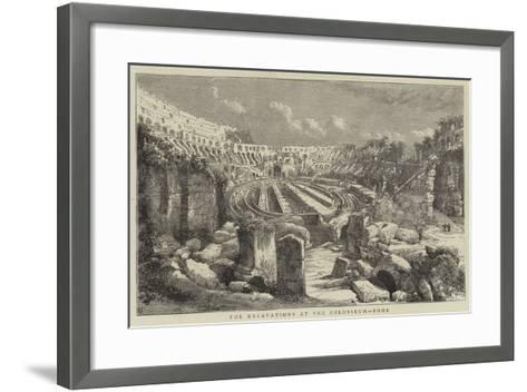 The Excavations at the Colosseum, Rome--Framed Art Print