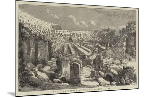 The Excavations at the Colosseum, Rome--Mounted Giclee Print