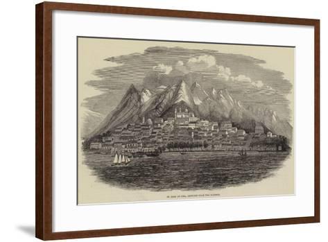 St Jago De Cuba, Sketched from the Harbour--Framed Art Print