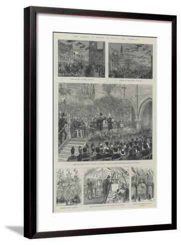 The Prince of Wales in Devon and Cornwall--Framed Art Print
