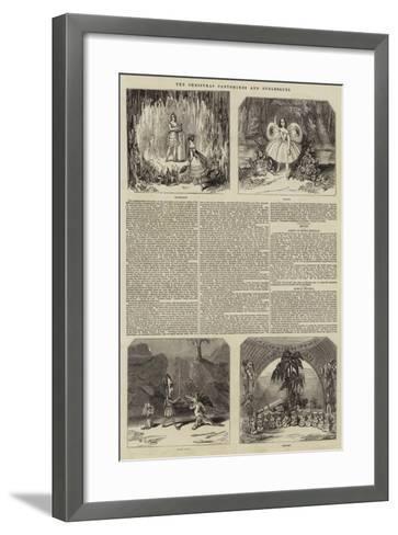 The Christmas Pantomimes and Burlesques--Framed Art Print