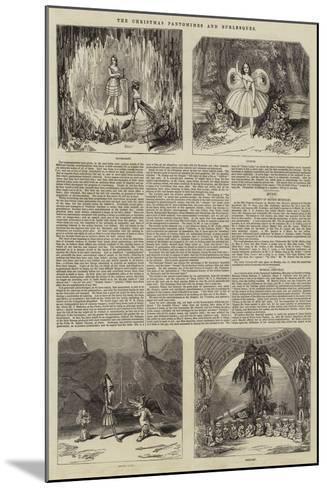 The Christmas Pantomimes and Burlesques--Mounted Giclee Print