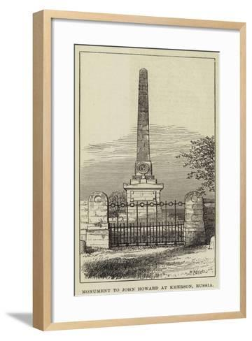 Monument to John Howard at Kherson, Russia--Framed Art Print