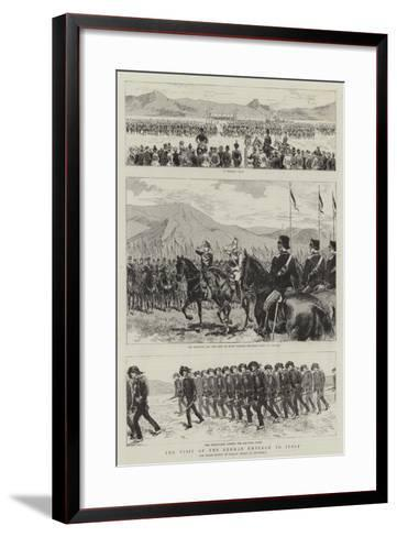 The Visit of the German Emperor to Italy--Framed Art Print