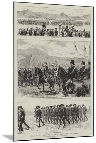 The Visit of the German Emperor to Italy--Mounted Giclee Print