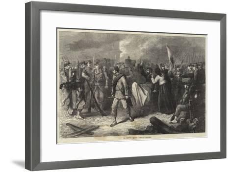 The Fighting in Paris, Communist Prisoners--Framed Art Print
