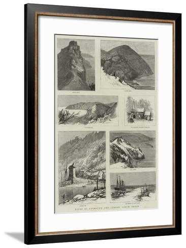 Notes at Lynmouth and Lynton, North Devon--Framed Art Print