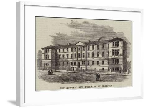 New Hospital and Infirmary at Greenock--Framed Art Print