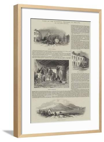 Views of the O'Connell Property in Ireland--Framed Art Print