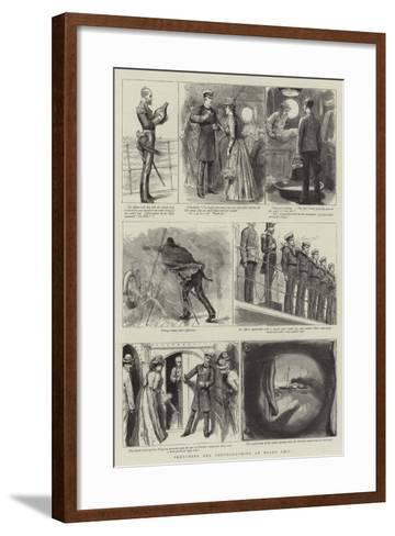 Sketching and Photographing on Board Ship--Framed Art Print