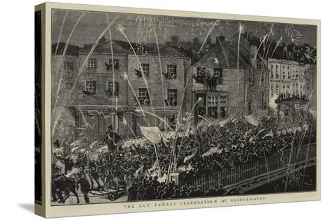 The Guy Fawkes Celebration at Bridgewater--Stretched Canvas Print