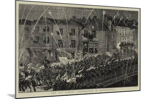 The Guy Fawkes Celebration at Bridgewater--Mounted Giclee Print