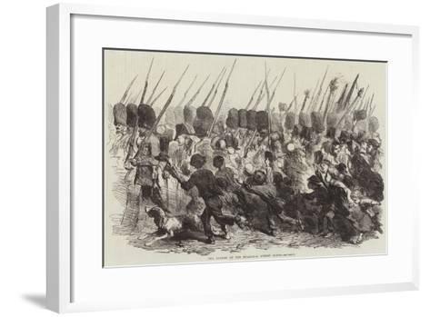 The Return of the Guards, a Street Scene--Framed Art Print