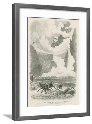 Avalanche from Mont Wiggis, Switzerland--Framed Art Print