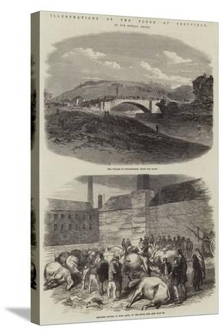 Illustrations of the Flood at Sheffield--Stretched Canvas Print