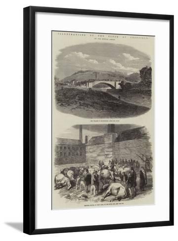 Illustrations of the Flood at Sheffield--Framed Art Print
