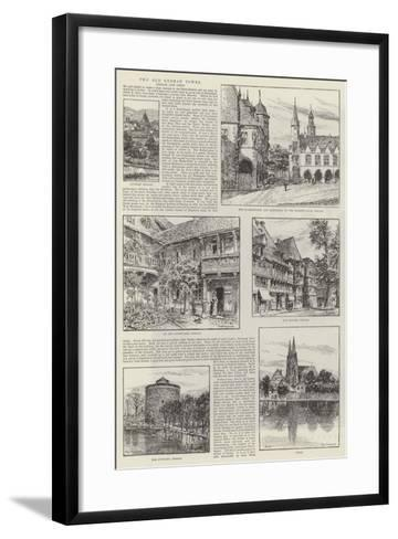 Two Old German Towns, Goslar and Soest--Framed Art Print