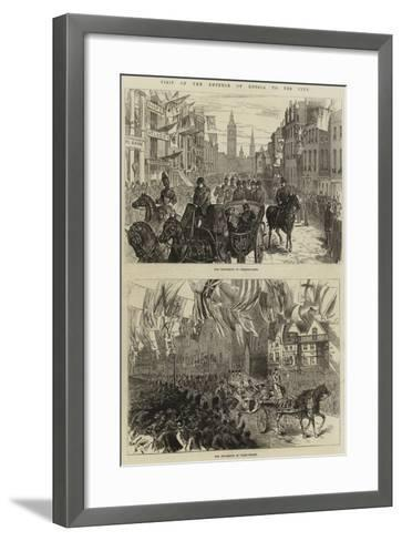 Visit of the Emperor of Russia to the City--Framed Art Print